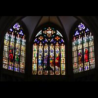 Basel, Münster, Bunte Glasfenster im Chor