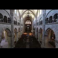 Basel, Münster, Blick vom Spieltisch in das Münster