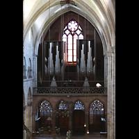 Basel, Münster, Blick vom Triforium im Chor zur Orgel