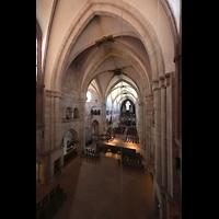 Basel, Münster, Blick vom Triforium ins Münster