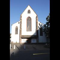 Basel, Predigerkirche (Schwalbennestorgel), Fassade