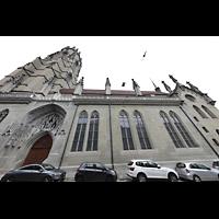 Fribourg (Freiburg), Cathédrale Saint-Nicolas (Hauptorgel), Seitenansicht