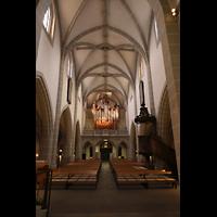 Vevey, Temple Saint-Martin, Innenraum in Richtung Orgel