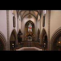 Vevey, Temple Saint-Martin, Blick von der Orgelempore in die Kirche