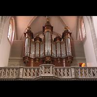 Vevey, Temple Saint-Martin, Orgelempore (unbeleuchtet)