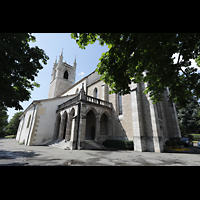 Vevey, Temple Saint-Martin, Außenansicht vom Chemin de l'Espérance aus