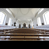 Malters, St. Martin (Chororgel), Innenraum in Richtung Chor