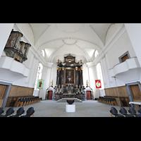 Malters, St. Martin (Chororgel), Chorraum mit Chororgel