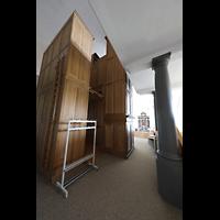 Malters, St. Martin (Chororgel), Orgelgehäuse schräg von hinten