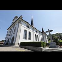 Malters, St. Martin (Chororgel), Außenansicht schräg von vorne