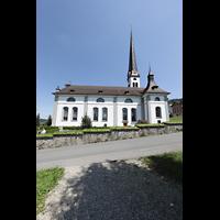 Malters, St. Martin (Chororgel), Außenansicht seitlich
