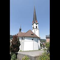Malters, St. Martin (Chororgel), Außenansicht mit Turm von hinten