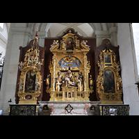 Luzern, Hofkirche St. Leodegar (Große Orgel mit Echowerk), Altar im rechten Seitenschiff