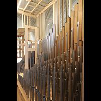 Luzern, Hofkirche St. Leodegar (Große Orgel mit Echowerk), Labialpfeifen im neuen Echowerk