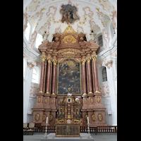 Luzern, Jesuitenkirche St. Franz Xaver (Hauptorgel), Chorraum mit Altar