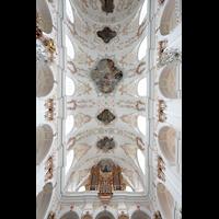 Luzern, Jesuitenkirche St. Franz Xaver (Hauptorgel), Kirchendecke mit Orgel