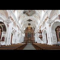 Luzern, Jesuitenkirche St. Franz Xaver (Hauptorgel), Innenraum in Richtung Chor