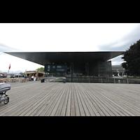 Luzern, KKL - Kultur- und Kongresszentrum, Außenansicht vom Europaplatz aus