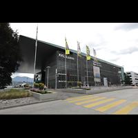 Luzern, KKL - Kultur- und Kongresszentrum, Außenansicht vom Bahnhofsplatz aus