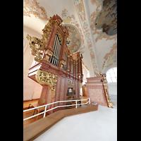 Luzern, Jesuitenkirche St. Franz Xaver (Hauptorgel), Orgel mit Spieltisch seitlich