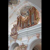 Luzern, Jesuitenkirche St. Franz Xaver (Hauptorgel), Orgel vom seitlichen Triforium aus gesehen