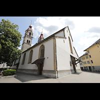 Winterthur, Stadtkirche (Chororgel), Außenansicht vom nördlichen Kirchplatz aus