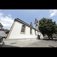 Winterthur, Stadtkirche (Chororgel), Außenansicht vom südlichen Kirchplatz aus