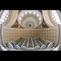 Potsdam, St. Nikolai (Hauptorgel), Ogelprospekt mit Blick in die Kuppel