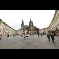 Praha (Prag), Katedrála sv. Víta (St. Veits-Dom), Querhausorgel, Domplatz mit St. Veits-Dom