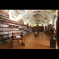 Praha (Prag), Klášter Bazilika Nanebevzetí Panny Marie (Klosterkirche), Hauptorgel, Bibliothek Strahov, philosophische Abteilung