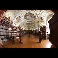 Praha (Prag), Klášter Bazilika Nanebevzetí Panny Marie (Klosterkirche), Hauptorgel, Bibliothek strahov, philosophische Abteilung, gesamter Raum
