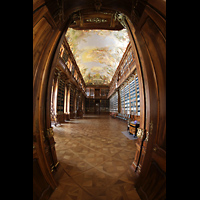 Praha (Prag), Klášter Bazilika Nanebevzetí Panny Marie (Klosterkirche), Hauptorgel, Bibliothek Strahov, theologische Abteilung, gesamter Raum