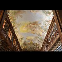 Praha (Prag), Klášter Bazilika Nanebevzetí Panny Marie (Klosterkirche), Hauptorgel, Deckenmalerei in der Bibliothek Strahov, theologische Abteilung