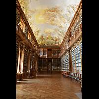Praha (Prag), Klášter Bazilika Nanebevzetí Panny Marie (Klosterkirche), Hauptorgel, Bibliothek Strahov, theologische Abteilung
