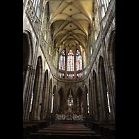 Praha (Prag), Katedrála sv. Víta (St. Veits-Dom), Querhausorgel, Chorraum