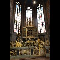 Praha (Prag), Katedrála sv. Víta (St. Veits-Dom), Querhausorgel, Grabkapelle von Anna Falcka, tschech. Königin (1349–1353) und 2. Frau Karls IV.