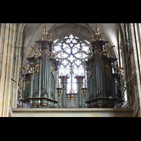 Praha (Prag), Katedrála sv. Víta (St. Veits-Dom), Querhausorgel, Querhausorgel - Barockgehäuse
