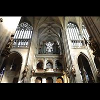Praha (Prag), Katedrála sv. Víta (St. Veits-Dom), Querhausorgel, Nördliches Querhaus mit Orgel