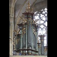 Praha (Prag), Katedrála sv. Víta (St. Veits-Dom), Querhausorgel, Querhausorgel, linkes Prospektfeld