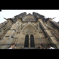 Praha (Prag), Katedrála sv. Víta (St. Veits-Dom), Querhausorgel, Westfassade