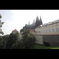 Praha (Prag), Katedrála sv. Víta (St. Veits-Dom), Querhausorgel, Burgberg mit Veitsdom