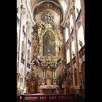 Praha (Prag), Bazilika sv. Jakuba (St. Jakob), Hauptorgel, Chor