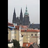 Praha (Prag), Katedrála sv. Víta (St. Veits-Dom), Querhausorgel, Blick vom Kloster Strahov auf den Veitsdom