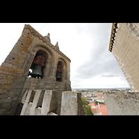 Évora (Evora), Catedral, Glockenturm mit Blick über die Dachmaier auf Évora