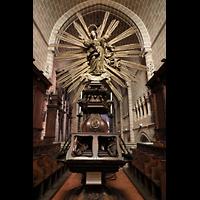 Évora (Evora), Catedral, Skulptur auf der Westempore