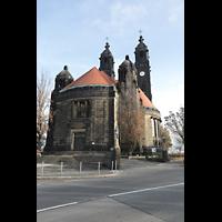 Dresden (Strehlen), Christuskirche, Außenansicht von Südwesten