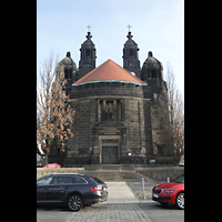 Dresden (Strehlen), Christuskirche, Außenansicht von Westen