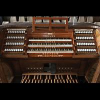 Dresden (Strehlen), Christuskirche, Spieltisch der Orgel