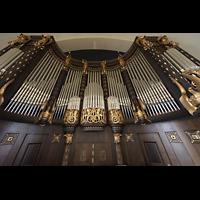 Dresden (Strehlen), Christuskirche, Orgelprospekt perspektivisch