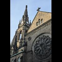 Dresden - Neustadt, Martin-Luther-Kirche, Außenansicht von Süden